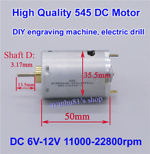 DC 6V-12V High Speed Large Torque 545 DC Motor 22800RPM for Electric Drill Tools