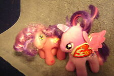 "My little pony,""2 small ponies, 1 Ty w/ tag, 1 not and no tag""!! 2 pics!"
