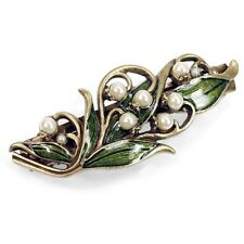 NEW SWEET ROMANCE ART NOUVEAU LILY OF THE VALLEY HAIR BARRETTE