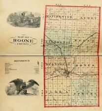 1877 BOONE County, Illinois IL, History & Genealogy, Ancestry Family DVD B33