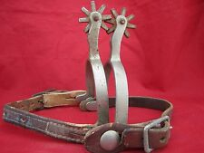 VINTAGE NORTH & JUDD SPURS ANCHOR MARKED WITH VINTAGE STRAPS