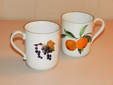 "TERRIFIC SET OF TWO (2) ROYAL WORCESTER ""EVESHAM VALE"" HANDLED MUGS"