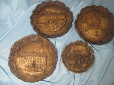4 - VTG Carved Wood Resin 3D Germany Wall Plates Plaque 3 - SIC, 1 - G. Muraro