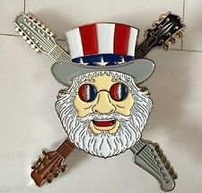 10   GRATEFUL DEAD DEAD HEAD  PATRIOTIC UNCLE SAM JERRY GARCIA  PIN