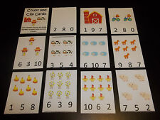 Farm Laminated Count and Clip Dry Erase Cards. Learning Games. Preschool Learnin