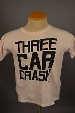 VINTAGE THREE CAR CRASH NYC T SHIRT GLAM PUNK ROCK T SHIRT ROCK CLUB SMALL