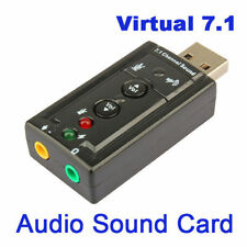 USB 2.0 3D Mini Virtual 12Mbps External 7.1 Channel Audio Sound Card Adapter