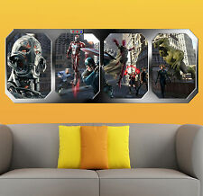 the AVENGERS  AGE of ULTRON   AVENGERS vs ULTRON  GIANT WINDOW VIEW POSTER