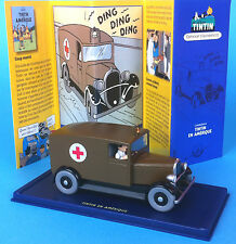 VOITURE TINTIN CAR ATLAS N° 51 L'ambulance de Chicago Tintin en Amerique HERGE