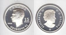 2009 Proof $15 Vignettes #4-George VI Ultra High Relief Canada 925 silver COIN O