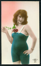 French 1920s Hand Tinted BATHING BEAUTY Deco Style In The Studio #1 PARIS Latest