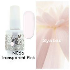 SYSTER 15ml Nail Art Soak Off Color UV Lamp Gel Polish N066 - Transparent Pink