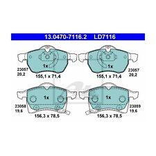 ATE LD7116 Bremsbelagsatz, Scheibenbremse ATE Ceramic  13.0470-7116.2  Vorne