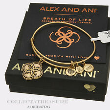 Authentic Alex and Ani Breath Of Life Rafaelian Gold Charm Bangle