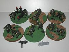 Warhammer 40K Imperial Guard 6x Cadian Heavy Weapons Teams