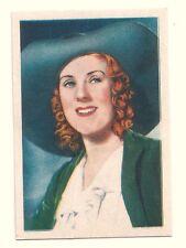 1936 Spanish Nestle Film Star Paper Thin Stamp Sticker  #35 Cicely Courtneidge