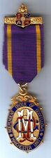 Medalla de oro Masonica Independent Order Of Oddfellows MANCHESTER UNITY - GOLD