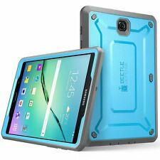Samsung Galaxy Tab S2 9.7 Case Built-in Screen Protector Bumper Flexible Blue
