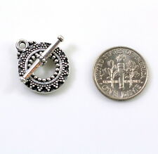 TierraCast, Bali Toggle Clasp Sets, ~Antiqued Fine Silver Plated, 2 Sets, 6112