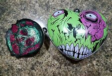 Iron Fist Clutch Purse Bag My Rotting Heart Green Pink White Zombie NWT