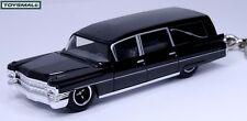 KEY CHAIN 63/1963/1964 BLACK CADILLAC FLEETWOOD HEARSE FUNERAL COACH PORTE CLE