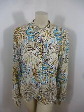 *Talbots* NWT Multi-Color Silk Long Sleeve Woman Top Blouse Shirt Size 12 L