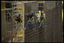 560015 Workers Install Rebar In Preparation For Concrete Pour A4 Photo Print