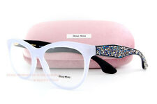 Brand New Miu Miu Eyeglass Frames MU 08N 08NV TKV Light Blue/Black Women Size 54