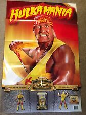 WWE Mattel HULK HOGAN Hulkamania Promo Poster Defining Moments Huge WWF AWA