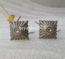 PAIR OF WWII WW2 GERMAN PANK PIPS SILVER STARS FOR SHOULDER BOARDS BADGE
