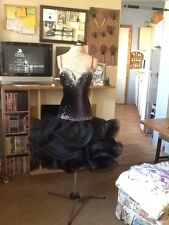"SALA da ballo / latina concorrenza danza dress ""BLACK VELVET ROSE"""