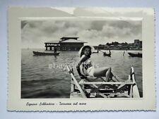 LIGNANO SABBIADORO bagnnte pin up Udine vecchia cartolina