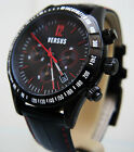 New Genuine Versace Watch Chronograph Men's Versus by Versace Black & Red