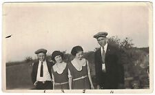 Vintage Photo of Four Teens -Small Snapshot from the 1920s -All Names Vernon, TX