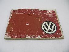 VW Jetta 1985 85 Owners Manual Set Volkswagen Packet Folder Free Shipping