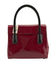 Prada B8654 Red Patent Leather Tote
