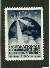 Vintage Poster Stamp Label 1923 AIRSHOW LUFTFAHRTAUSSTELLUNG Gotenburg Sweden
