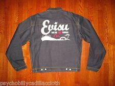 NEW $455 EVISU 507 XX 1950s STYLE JAPAN SELVEDGE PLEATED FRONT DENIM JACKET 3X