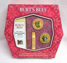 NIB Burt's Bees Naturally Soft Hands Gift Set Kit Hand Repair Cream Cuticle