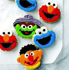 4Pcs Sesame Street Cookie Fondant Cake Chocolate Plunger Mold Cutter Decorating