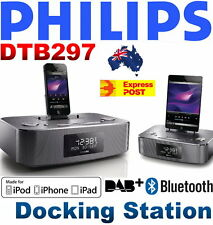 NEW Philips DTB297 Docking Station for iPod/iPhone/iPad Bluetooth DAB+ FM Alarm