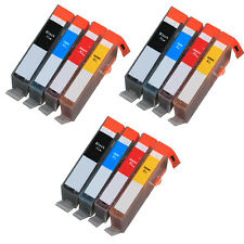 12 PK Ink Cartridges + chip for use on HP 564XL Photosmart 5525 5522 5520
