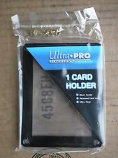 1X ULTRA PRO BLACK FRAME CARD SCREWDOWN HOLDER Recessed 4 Screw Clear Display