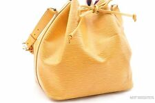 Authentic Louis Vuitton Epi Petit Noe Yellow Shoulder Bag LV 25954