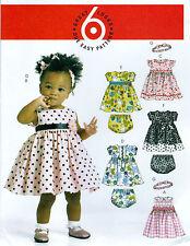 EASY SEWING PATTERN - GIRLS / TODDLER / BABY DRESS PANTIES ROCK'N'ROLL 50s LOOK