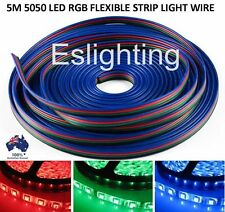 5M 4-PIN RGB LED STRIP LIGHT EXTENSION CONNECTOR WIRE CABLE CORD 5050 3528 LEAD