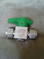 NUPRO STAINLES STEEL 1/4 TURN INSTRUMENT PLUG VALVE BALL ONE WAY 1/2 INCH NEW