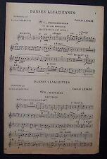 partition ancienne DANSES ALSACIENNES - hautbois