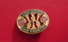 WWII ERA WOMENS CIVIL DEFENCE GROUP HOME FIRES /MEMBERS LAPEL BADGE/MEDAL/BROOCH