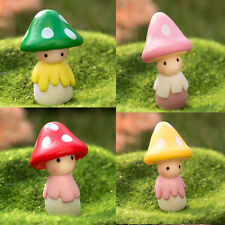 Garden Pot Dollhouse Mushroom Doll Figurine Plant DIY Crafts Home Decor Green